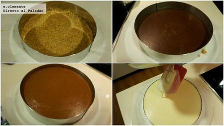 como hacer Tarta tres chocolates
