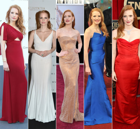 Jessica Chastain mejores looks 2013