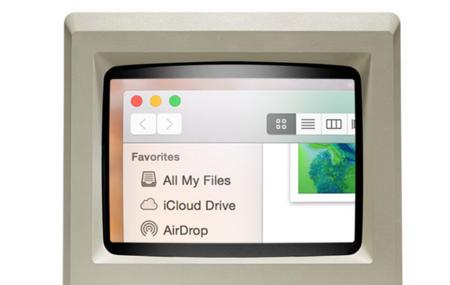 Imagen de la semana: así se vería un OS X Retina en el Macintosh original