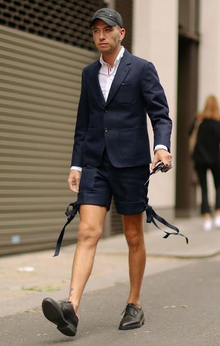 El Mejor Street Style De La Semana Combo Blazer Shors Bermudas Trendencias Hombre 03