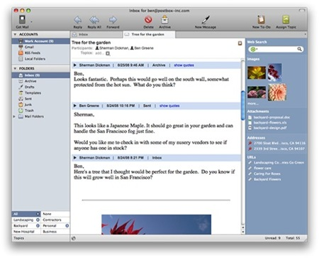 PostBox, prometedor gestor de correo alternativo para Mac OS X