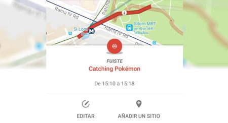 Google Maps te deja registrar tus sesiones de caza de Pokémon