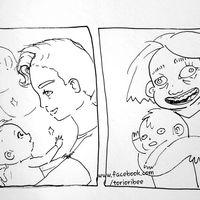 La ilustración que muestra de manera graciosa por qué las madres casi no tienen fotos bonitas con sus hijos