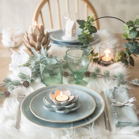 Mesa de Navidad blanca