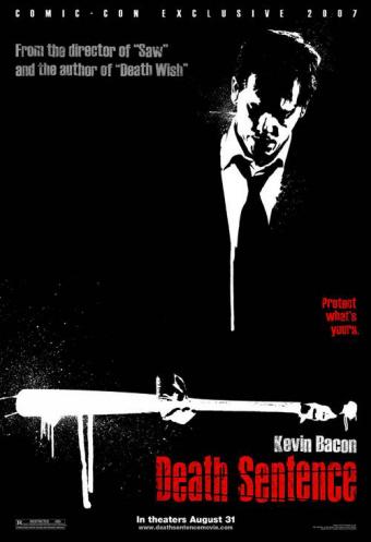 Poster estilo comic de Death Sentence
