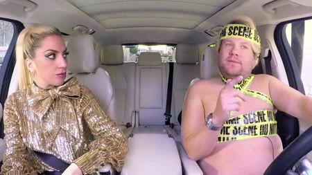 James Corden Lady Gaga Carpool Costume 5