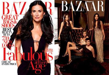 Demi Moore para Harper's Baazar