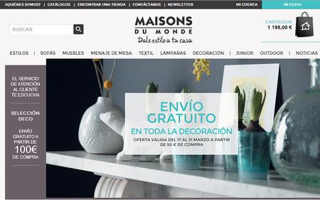 Entrega gratuita en Maisons du Monde, solo hasta el 31 de marzo