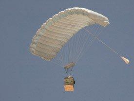 GPS como guía para paracaídas