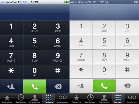 iOS 5 vs. iOS 6, cambios estéticos