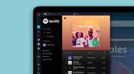 La nueva versión de Opera integra Spotify, Apple Music y YouTube Music directamente en la barra lateral