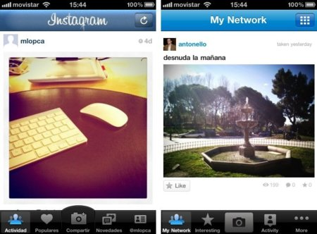 instagram picplz interfaz principal