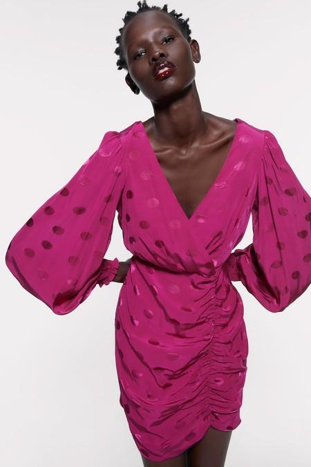 Vestido Fucsia Zara 09