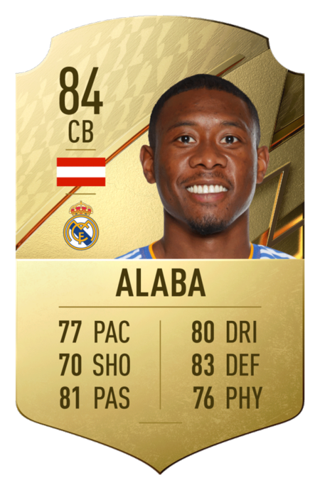 David Alaba FIFA 22 mejores jugadores laliga