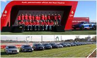 Los jugadores del Real Madrid estrenan sus nuevos Audi