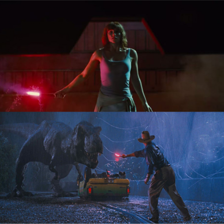 Jurassic World y Jurassic Park, bengala