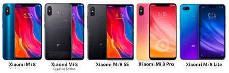 Xiaomi Mi 8 Serie