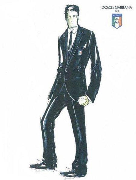 Dolce & Gabbana diseña el traje de la Selección Italiana de Fútbol para el Mundial 2010
