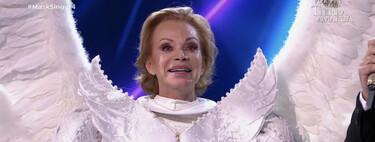 Una Paloma San Basilio ha caído del cielo: Ángel, cuarta famosa desenmascarada de 'Mask Singer 2'