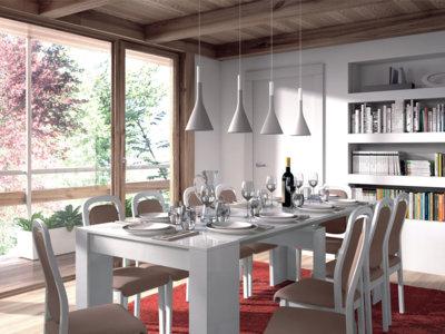 Mesa de comedor, extensible de 50 a 235 cm, por 135 euros y envío gratis