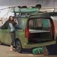 La Volkswagen Caddy Beach será la furgoneta camper más pequeña de la marca, pero con el mismo espíritu de la Volkswagen California