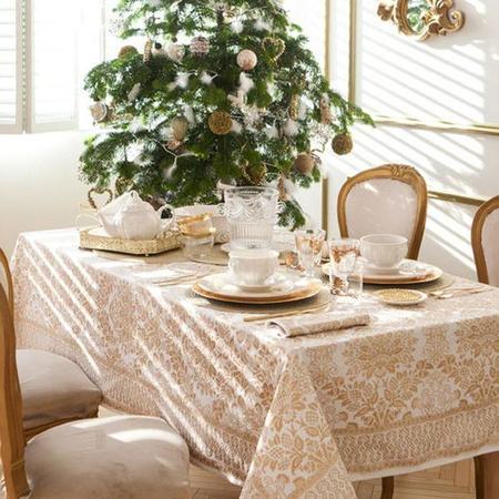 Estampado Dorado Mesazarahome Navidad