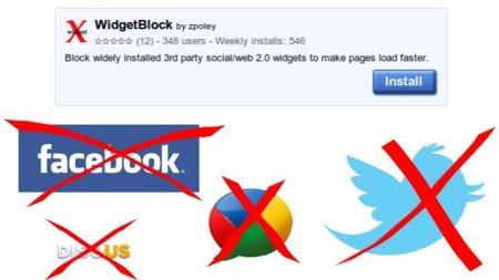 Quita los widgets sociales de cualquier página en Chrome con WidgetBlock
