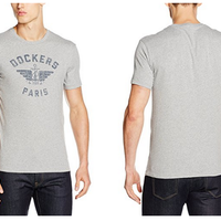 Camiseta para hombre Dockers City Logo Paris en color gris desde 10,59 euros en Amazon