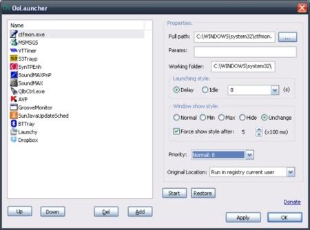 Gestiona los programas que se inician en Windows con Oolauncher