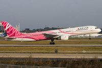 Delta pintó de rosa uno de sus aviones