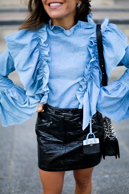 Como Combinar Falda Cuero Negra 07
