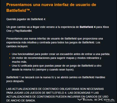 Battlefield Interfaz De Usuario Nueva