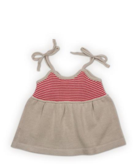 1 Vestido De Rayas Bonnet A Pompon Rebajas