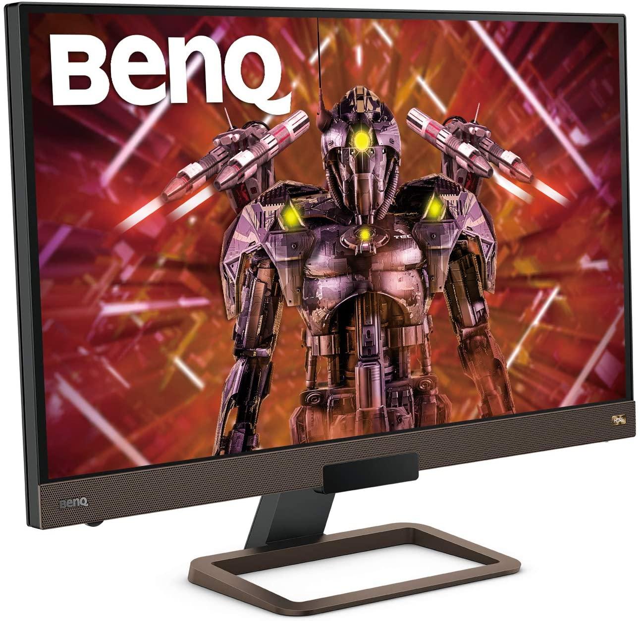 "BenQ EX2780Q - Monitor Gaming de 27"" 2K QHD (2560x1440, 5ms, 144Hz, 2x HDMI, IPS, HDRi, DCI-P3, DP, USB-C, FreeSync, altavoces, mando a distancia, antireflejos, sin parpadeo) - Gris metalizado"