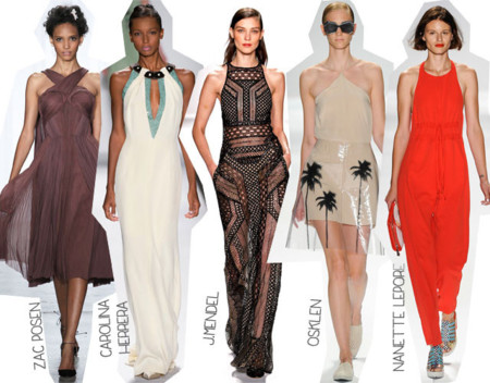 Semana de la Moda de Nueva York Primavera Verano 2014 Tendencias Escote halter