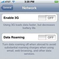 El 3G ya está presente en la interfaz del Firmware 2.0 del iPhone