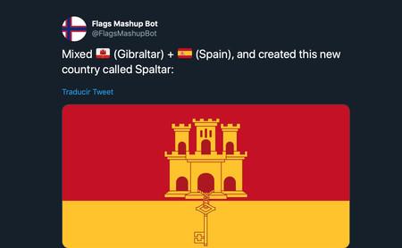 Este bot viral de Twitter genera banderas de países que no existen como Spaltar, la unión de España y Gibraltar