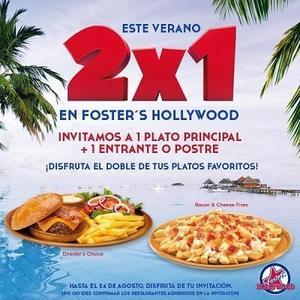 Aprovecha un 2x1 en Foster's Hollywood hasta el 24 de agosto