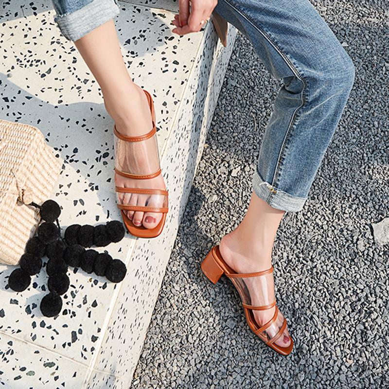 39 Oro Tendencia Hebilla Mujer Eu Elegante Tacón Zapatos Correa Botón De Minetom Sandals Verano Moda Sandalias Alto Transparente 3l1JcTFK