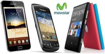 Precios Samsung Galaxy Note, Nokia Lumia 800 y Blackberry Curve 9380 con Movistar