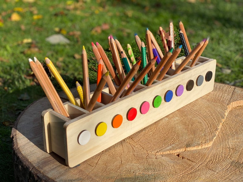 Pen Hero, Pen Holder Montessori, Organizador de Escritorio