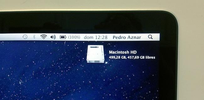 MacBook Pro RD barra de menús