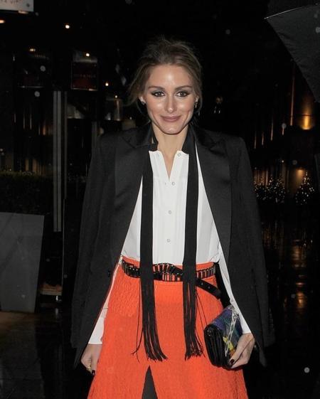 Olivia Palermo conoce el secreto para ir con falda larga en fiestas