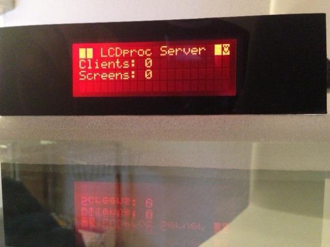 Número de Clientes (programas que usan el display) y número de pantallas que muestran información