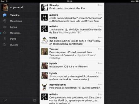 Twitter actualiza su aplicación de iOS con soporte para el iPad