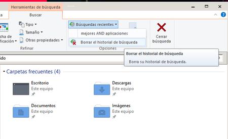Borrar Historial De Busqueda Del Explorador De Windows