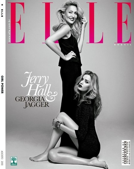Elle Brazil August 2013 Georgia May Jagger & Jerry Hall by Max Abadian