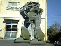 Todo un robot zancudo armado hasta los dientes