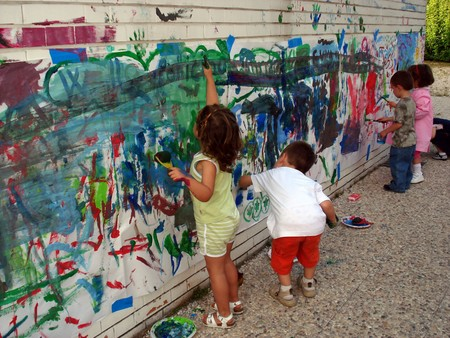 Game Play City Child Painting Public Space 692638 Pxhere Com