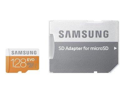 Tarjeta de memoria micro SDXC de 128 GB Samsung EVO por 30,99 euros